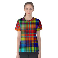 Abstract Color Background Form Women s Cotton Tee