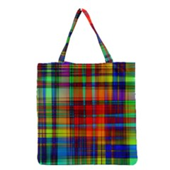 Abstract Color Background Form Grocery Tote Bag