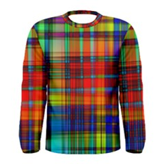 Abstract Color Background Form Men s Long Sleeve Tee