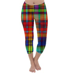 Abstract Color Background Form Capri Winter Leggings