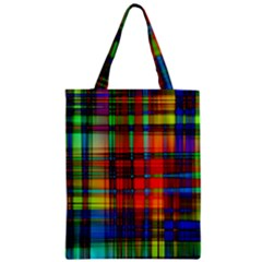 Abstract Color Background Form Zipper Classic Tote Bag