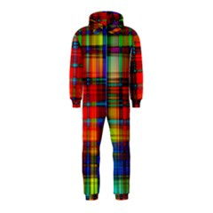 Abstract Color Background Form Hooded Jumpsuit (kids)