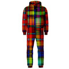 Abstract Color Background Form Hooded Jumpsuit (Men)