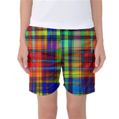 Abstract Color Background Form Women s Basketball Shorts