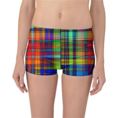 Abstract Color Background Form Reversible Bikini Bottoms