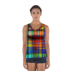 Abstract Color Background Form Women s Sport Tank Top