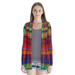 Abstract Color Background Form Cardigans