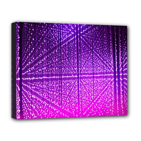 Pattern Light Color Structure Deluxe Canvas 20  x 16