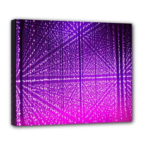 Pattern Light Color Structure Deluxe Canvas 24  X 20