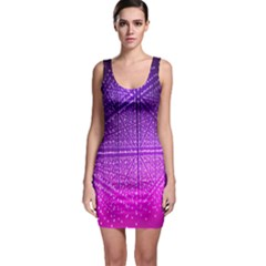 Pattern Light Color Structure Sleeveless Bodycon Dress