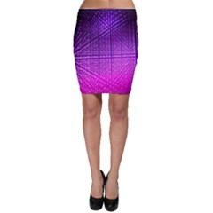 Pattern Light Color Structure Bodycon Skirt