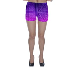 Pattern Light Color Structure Skinny Shorts