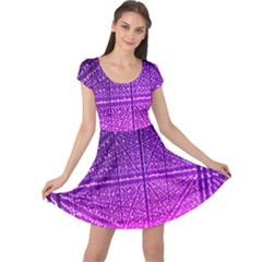 Pattern Light Color Structure Cap Sleeve Dresses