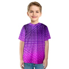 Pattern Light Color Structure Kids  Sport Mesh Tee