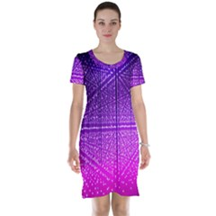Pattern Light Color Structure Short Sleeve Nightdress