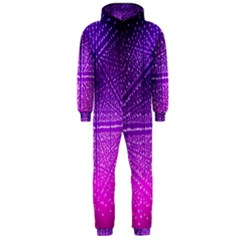 Pattern Light Color Structure Hooded Jumpsuit (men)