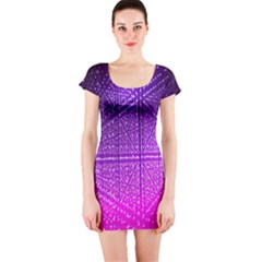 Pattern Light Color Structure Short Sleeve Bodycon Dress