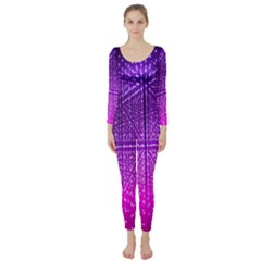 Pattern Light Color Structure Long Sleeve Catsuit