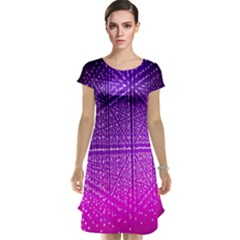 Pattern Light Color Structure Cap Sleeve Nightdress