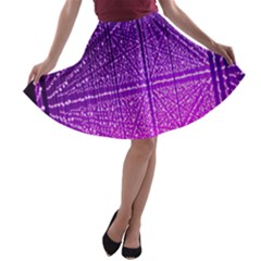 Pattern Light Color Structure A Line Skater Skirt