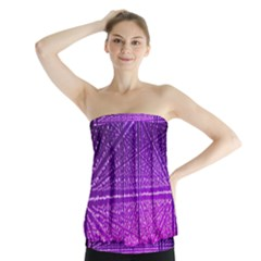 Pattern Light Color Structure Strapless Top