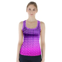 Pattern Light Color Structure Racer Back Sports Top