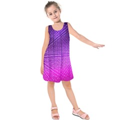 Pattern Light Color Structure Kids  Sleeveless Dress