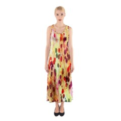 Background Color Pattern Abstract Sleeveless Maxi Dress