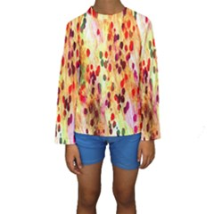 Background Color Pattern Abstract Kids  Long Sleeve Swimwear