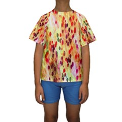 Background Color Pattern Abstract Kids  Short Sleeve Swimwear