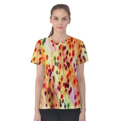 Background Color Pattern Abstract Women s Cotton Tee
