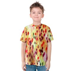 Background Color Pattern Abstract Kids  Cotton Tee