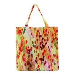 Background Color Pattern Abstract Grocery Tote Bag