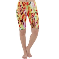 Background Color Pattern Abstract Cropped Leggings
