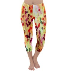 Background Color Pattern Abstract Capri Winter Leggings