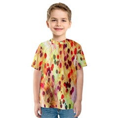 Background Color Pattern Abstract Kids  Sport Mesh Tee