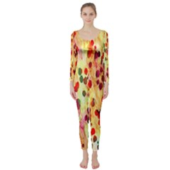 Background Color Pattern Abstract Long Sleeve Catsuit