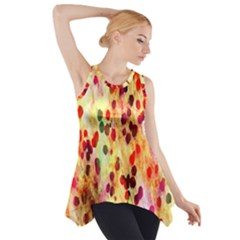 Background Color Pattern Abstract Side Drop Tank Tunic
