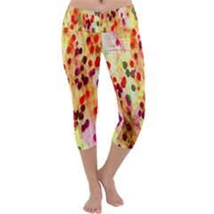 Background Color Pattern Abstract Capri Yoga Leggings