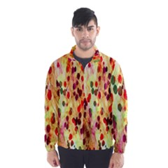 Background Color Pattern Abstract Wind Breaker (Men)