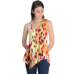 Background Color Pattern Abstract Sleeveless Tunic
