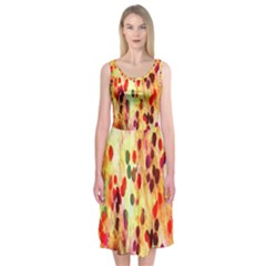 Background Color Pattern Abstract Midi Sleeveless Dress