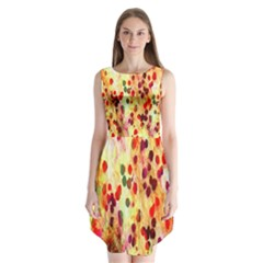 Background Color Pattern Abstract Sleeveless Chiffon Dress