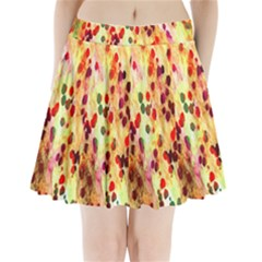 Background Color Pattern Abstract Pleated Mini Skirt