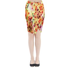Background Color Pattern Abstract Midi Wrap Pencil Skirt
