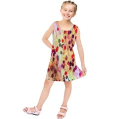 Background Color Pattern Abstract Kids  Tunic Dress