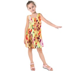 Background Color Pattern Abstract Kids  Sleeveless Dress