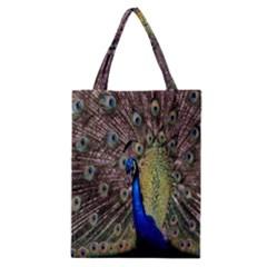 Multi Colored Peacock Classic Tote Bag