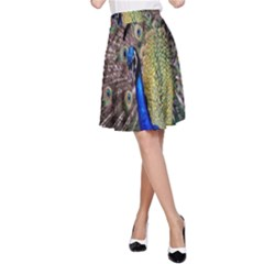 Multi Colored Peacock A-Line Skirt