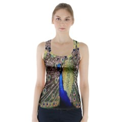 Multi Colored Peacock Racer Back Sports Top